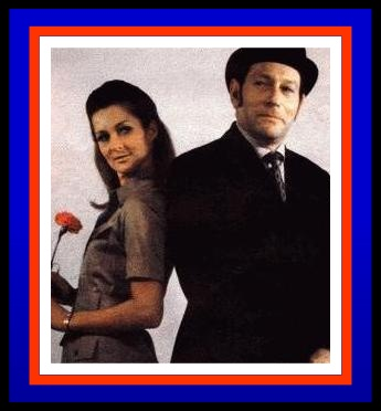 'Mrs. Peel, we're needed...' Diane Appleby and Donald Monat, alias Emma Peel and John Steed, on radio's version of THE AVENGERS