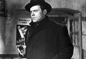 ORSON WELLES as that likable rogue, HARRY LIME, in THE THIRD MAN: THE LIVES OF HARRY LIME