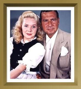 PHIL HARRIS and ALICE FAYE, stars of THE FITCH BANDWAGON